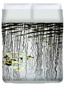 Reeds And Reflections Duvet Cover