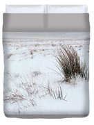 Reeds And Snow Duvet Cover