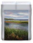 Reeds By The Water Duvet Cover
