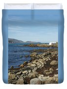 Reef Bay Boathouse Duvet Cover