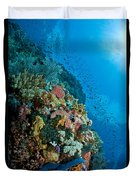 Reef Scene With Corals And Fish Duvet Cover
