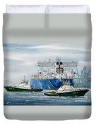 Refinery Tanker Escort Duvet Cover