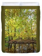 Reflected Color Of Autumn Duvet Cover