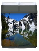 Reflected Faces Duvet Cover