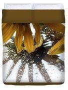 Reflected Yellow Petals Duvet Cover