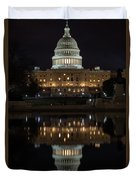 Reflecting At The Capitol Duvet Cover