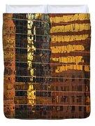 Reflecting Chicago Duvet Cover