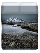 Reflecting Mountain Duvet Cover