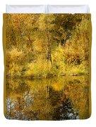 Reflecting On Autumn Leaves Duvet Cover