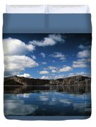 Reflecting On Crater Lake Duvet Cover