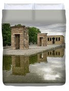 Reflecting On Millennia - Egyptian Temple Of Debod In Madrid Spain  Duvet Cover