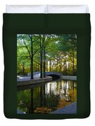 Reflecting Pool Roosevelt Park Duvet Cover