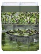 Bridge Over The River Duvet Cover