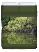 Reflecting Spring Green Duvet Cover