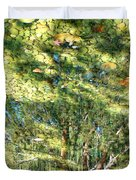 Reflecting Trees On Quiet Pond Duvet Cover