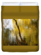 Fall Reflections 3 On Jamaica Pond Duvet Cover