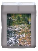 Fall Reflections 4 On Jamaica Pond Duvet Cover
