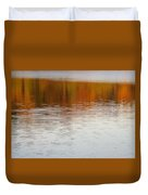 Fall Reflections 6 On Jamaica Pond Duvet Cover