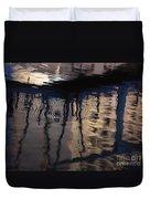 reflection in Eilat marina Duvet Cover