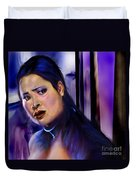 Reflection Of A Movie Scene Duvet Cover