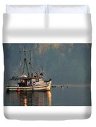 Reflections Of A Nautical Timepiece Duvet Cover