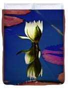 Reflection Of A Water Lily Duvet Cover