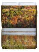 Reflection Of Autumn Colors In A Lake Duvet Cover