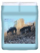 Reflection Of Dogs Duvet Cover