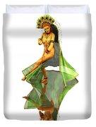 Reflection Of Golden Kali Dancer Duvet Cover