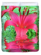 Reflection Of Life  Duvet Cover