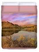 Reflection Of Scenic High Desert Landscape In Central Oregon Duvet Cover