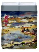 Reflection Of Sunset Glow Duvet Cover