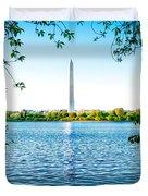 Reflection Of Washington Duvet Cover