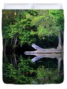Reflection Off The Withlacoochee River Duvet Cover
