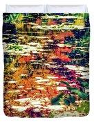 Reflection On Oscar - Claude Monet's  Garden Pond  Duvet Cover