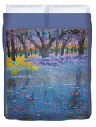 Reflection Pond Japan Duvet Cover