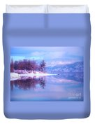 Reflections Along Highway 97 Duvet Cover