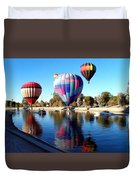 Reflections Along The Channel Duvet Cover