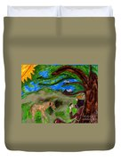 Reflections And Prayer Of St. Francis Duvet Cover