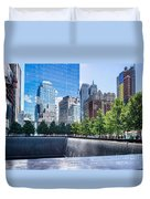 Reflections At 911 Memorial Duvet Cover