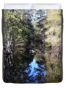 Reflections At Camps Creek  Duvet Cover
