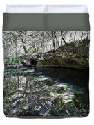 Reflections At The Grotto Duvet Cover