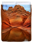 Reflections At The Wave Duvet Cover