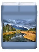 Reflections In Canmore Duvet Cover