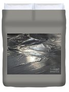Reflections In Dark Ice 3 Duvet Cover
