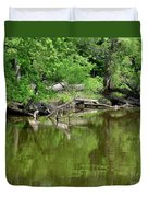 Reflections In Green Duvet Cover