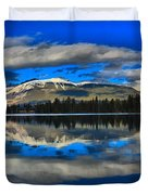 Reflections In Lac Beauvert Duvet Cover