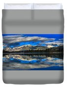 Reflections In Lake Beauvert Duvet Cover