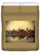 Reflections In Nakusp Duvet Cover
