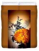 Reflections In Orange Duvet Cover